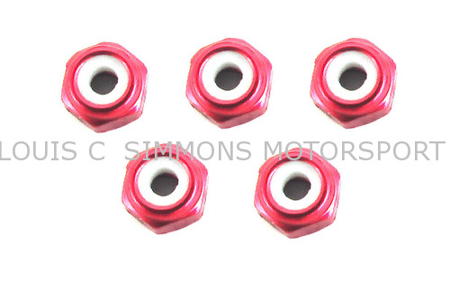 2mm Red Lock nuts for Micro Crawler